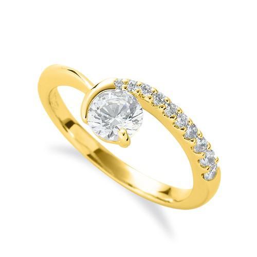 全ての 指輪 18金 イエローゴールド 天然石 メレがラインになったサイドストーンリング 主石の直径約3.8mm V字 レール留め, カミゴオリチョウ 07ce3e06