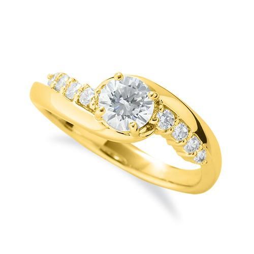 本物の 指輪 18金 天然石 イエローゴールド 天然石 抱き合わせ腕 サイドストーンリング 主石の直径約5.2mm 指輪 抱き合わせ腕 四本爪留め, Local to Global:000918ca --- airmodconsu.dominiotemporario.com