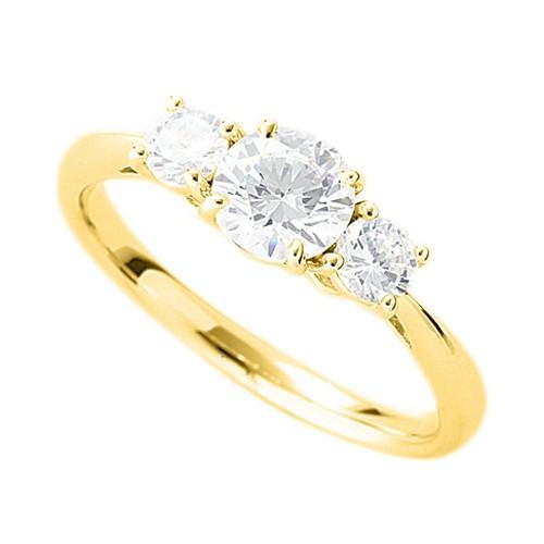 柔らかな質感の 指輪 18金 イエローゴールド 天然石 サイドストーンリング 主石の直径約5.2mm 四本爪留め, J.herself 2f62bed6