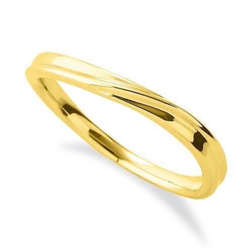 人気カラーの 指輪 18金 イエローゴールド シンプルモダンなウェーブリング 幅2.5mm, 激安エスニックファッションGADO c36bff63