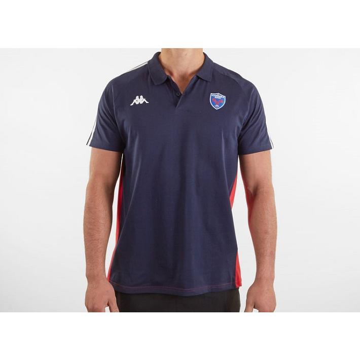 ラグビー FCグルノーブル トレーニング ポロシャツ 公式 メンズ レディース ユニセックス