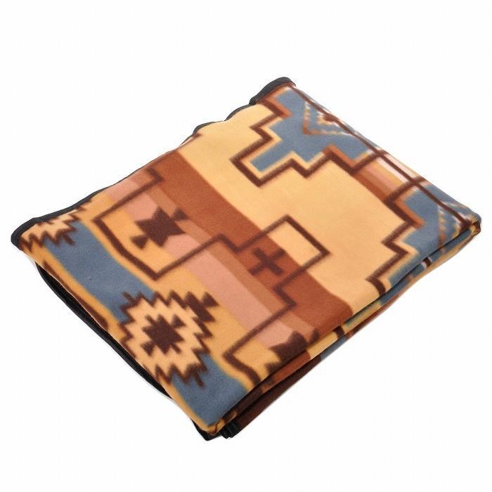 エルパソサドルブランケット (El Paso SADDLEBLANKET) Fleece Lodge Blanket フリースロッジブランケット[約203×152cm]01B.BEIGE/STEEL|rugforest