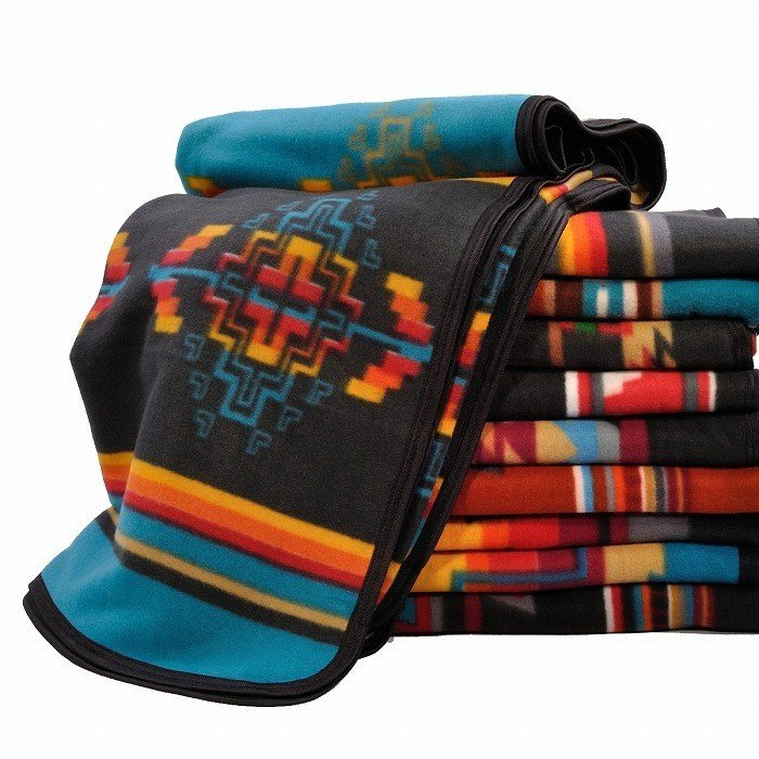エルパソサドルブランケット (El Paso SADDLEBLANKET) Fleece Lodge Blanket フリースロッジブランケット[約203×152cm]01B.BEIGE/STEEL|rugforest|05