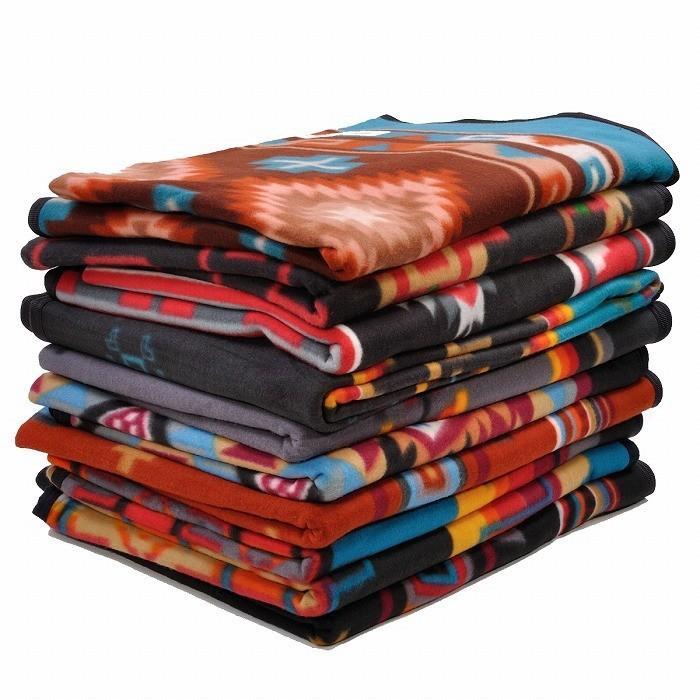 エルパソサドルブランケット (El Paso SADDLEBLANKET) Fleece Lodge Blanket フリースロッジブランケット[約203×152cm]01B.BEIGE/STEEL|rugforest|06