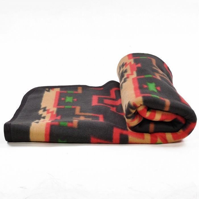 エルパソサドルブランケット (El Paso SADDLEBLANKET) Fleece Lodge Blanket フリースロッジブランケット[約203×152cm]01B.BEIGE/STEEL|rugforest|07