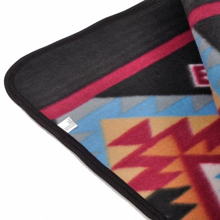 エルパソサドルブランケット (El Paso SADDLEBLANKET) Fleece Lodge Blanket フリースロッジブランケット[約203×152cm]10.BLK/TURQUOISE rugforest 09
