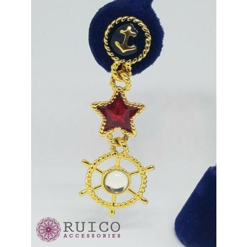 魅力的な価格 TRIFARI トリファリ イヤリング ピアス エナメル アンティーク, オガチグン 53893523