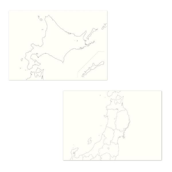 カルトグラフィー/大人の白地図 [ブック] A5 ニホン マルアイ 82CG-A5J |rukaruka0551|02