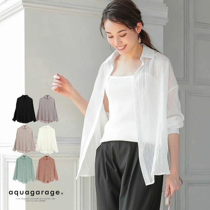 ふんわり素材シアーガーゼシャツ