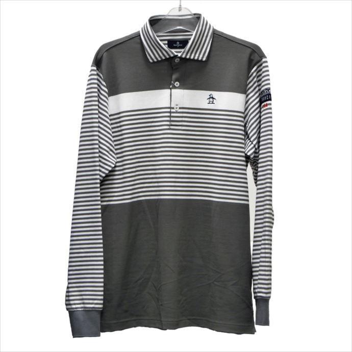 《送料無料》長袖ポロシャツ Munsingwear (マンシングウェア) メンズ 長袖シャツ グレー MGMMJB10 1908 ゴルフ