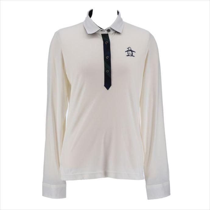 《送料無料》長袖シャツ Munsingwear (マンシングウェア) レディス チェック柄長袖シャツ ホワイト MGWMGB06 1908 ゴルフ