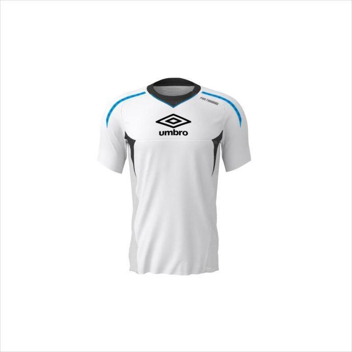 ウェア umbro (アンブロ) メンズ PRO-TRパフォーマンスS/Sシャツ WHT UUUNJA50 1907 サッカー