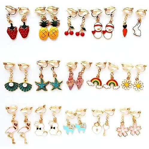 子供 イヤリングセット クリップ式 かわいい 子供 メイクセット 女の子 アクセサリー プレゼント おもちゃ OKTOKYU おもちゃ 女の子 ruriiro