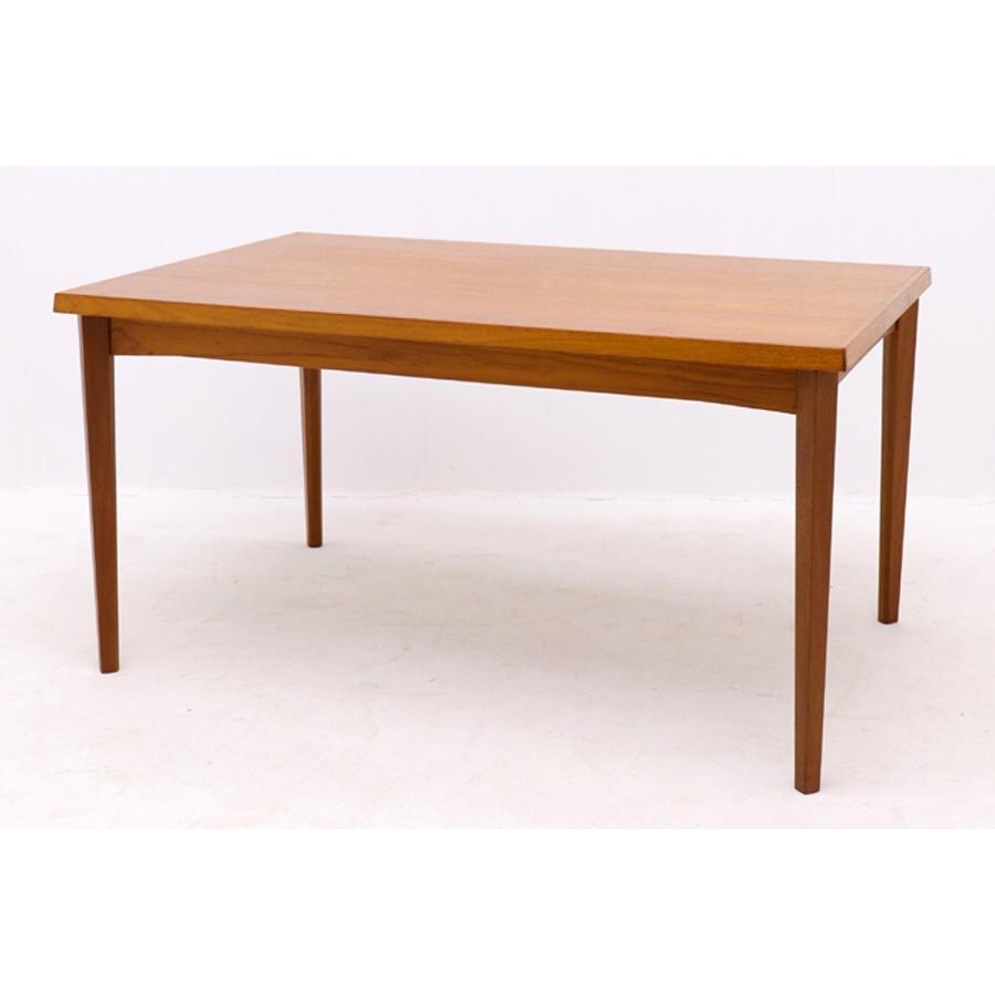 デンマーク製 エクステンションダイニングテーブル 幅 140cm 北欧家具ビンテージ【アンティーク チーク材 おしゃれ 北欧インテリア リビング】