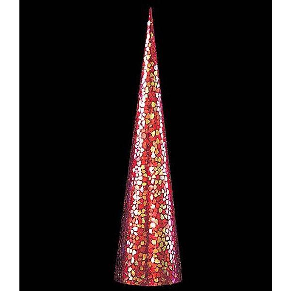 クリスマス 装飾 コーン クリスマス 90cmレッドゴールドモザイクコーン DICO6989