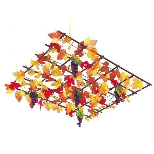天井装飾 秋 装飾 天井装飾 オータムシャンデリア 5 飾付け