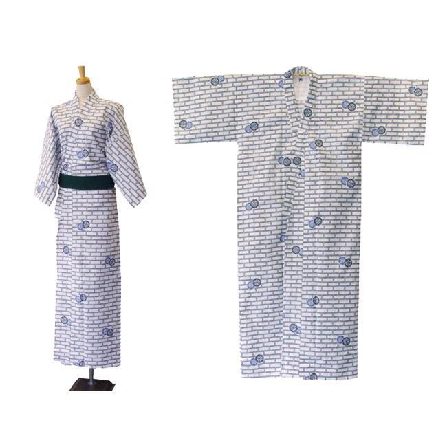 旅館・ホテル浴衣 日本製 2色レンガ柄 綿生地使用|ryokan-yukata|03