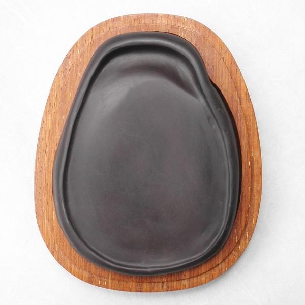 端渓硯 老坑 水岩 120×90×21mm 淌池硯 一点物