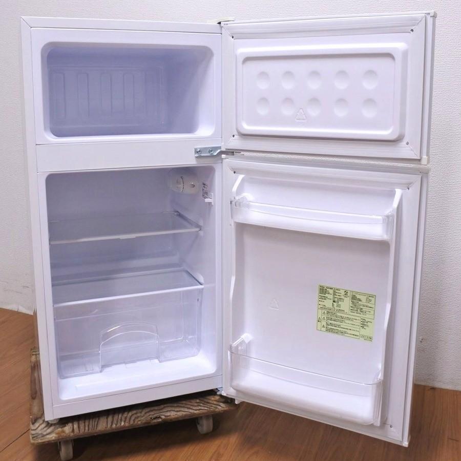 中古 Haier ハイアール 85L 2ドア冷蔵庫 JR-N85A ホワイト 直冷式 2015年製|ryoshin-online-shop|02