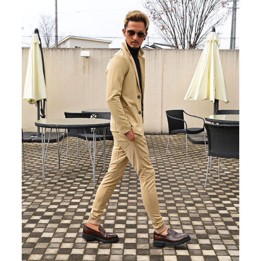 セットアップ メンズ テーラードジャケット 春 秋 冬 おしゃれスーツ ちょいワル メンズファッション 20代 30代 40代 カジュアル|ryouhin-boueki|17