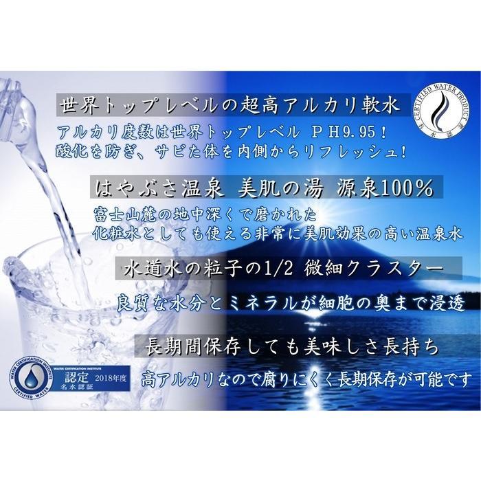 自社工場直送!採れたての天然高アルカリイオン温泉水 りょう泉はやぶさ ペットボトル 500mL×24本|ryousen|06