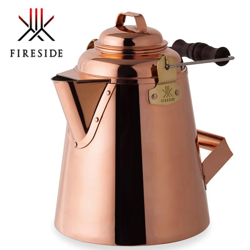 日本製 グランマーコッパーケトル(小)12113 銅製ケトル アウトドア 薪ストーブ 職人 銅の一品 お湯 風合い 熟練 代引き不可