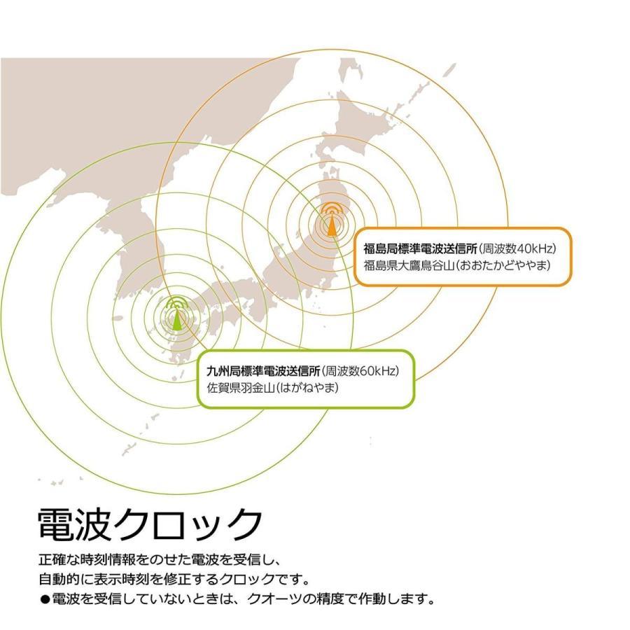 セイコー クロック 掛け時計 自動点灯 電波 アナログ 夜でも見える ファインライト NEO ネオ 木枠 茶 木地 KX395B SEIKO
