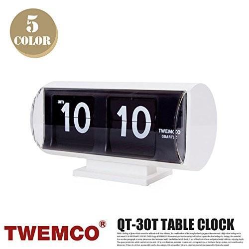 QT-30T CLOCK(クロック) パタパタクロック TWEMCO(トゥエンコ) ブラックブラック
