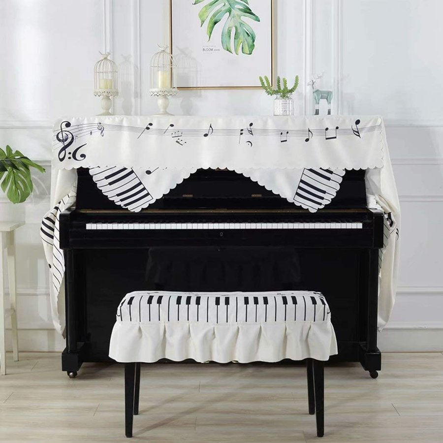 ピアノカバー 直立型 アップライト 防塵カバー 保護カバー ピアノカバーセット 椅子カバー フルカバー おしゃれ 高級 ピアノ (間口148
