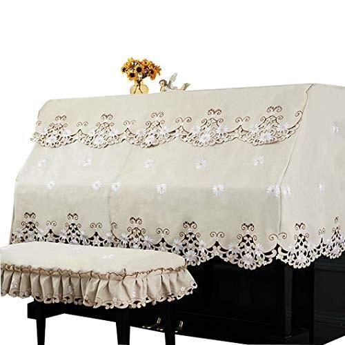 ピアノカバー アップライト 防塵カバー 花 刺繍 可愛い 高級 ピアノ カバー 上品 厚手 ヨーロッパ風 人気 直立型 おしゃれ デイジー