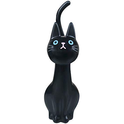 明邦 トイレブラシ おしゃれ 黒 猫のしっぽ (ケース付き)|rysss