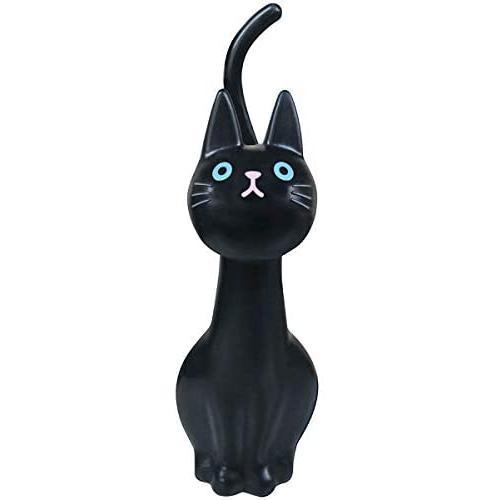 明邦 トイレブラシ おしゃれ 黒 猫のしっぽ (ケース付き)|rysss|03