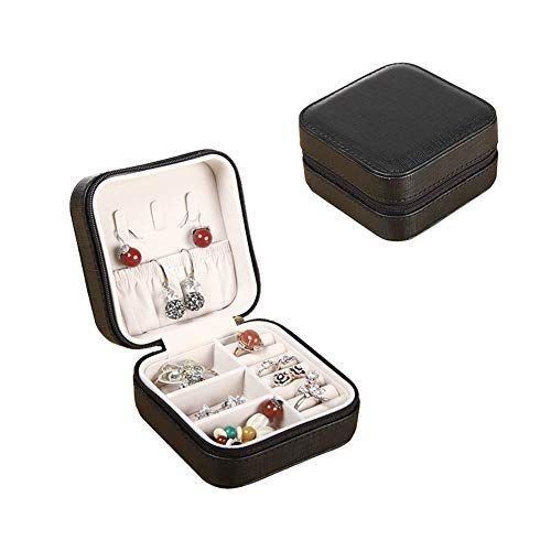 Awesomes ジュエリーボックス アクセサリーケース 携帯用 指輪 ピアス イヤリング ネックレス ブレスレットの収納 ジッパー宝石箱|rysss