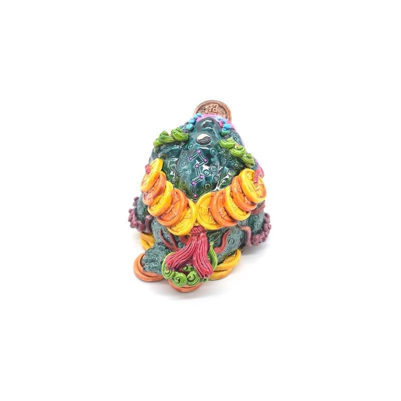 三脚蟾蜍 カラフル 樹脂製置物 彩色済み 6cm 万事如意|ryu|04