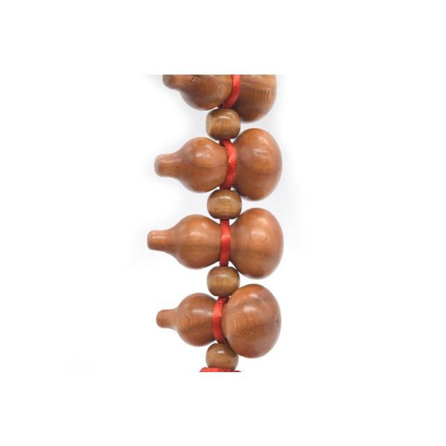 瓢箪 ひょうたん 木彫り 9連 吊るし物 赤 42cm ryu 04