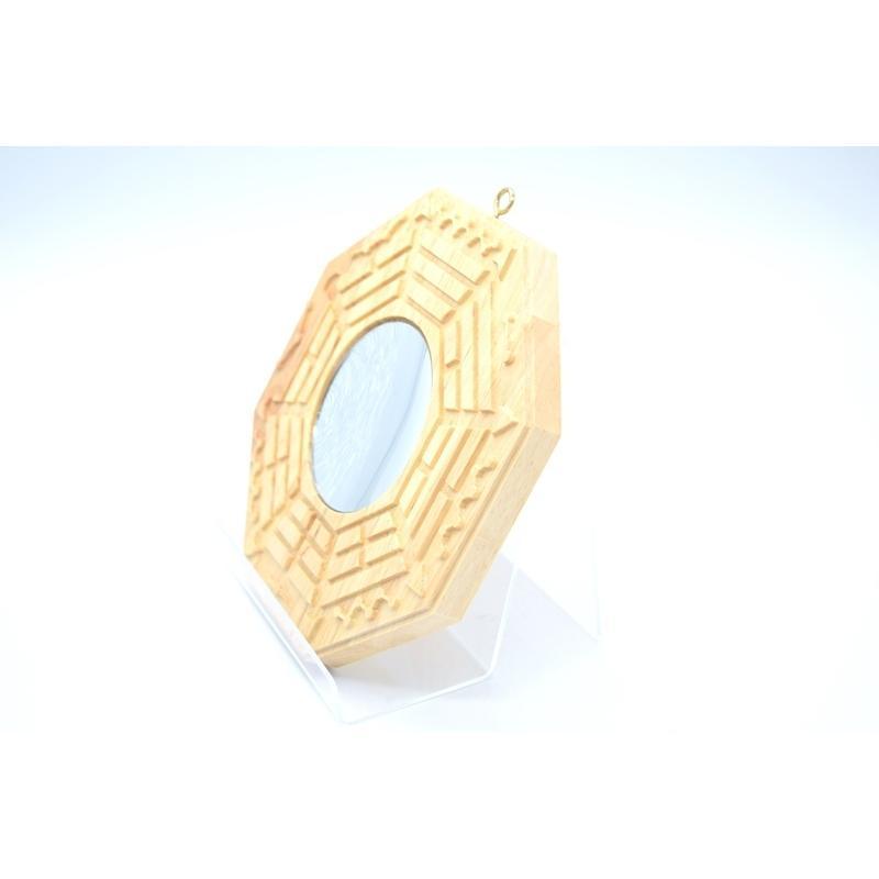 八卦鏡 凹面鏡 木製置物 気の安定盤 20cm ryu 02