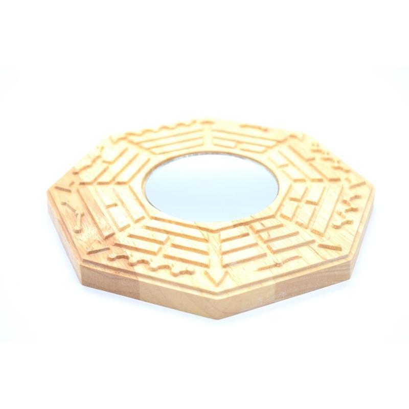 八卦鏡 凹面鏡 木製置物 気の安定盤 20cm ryu 03