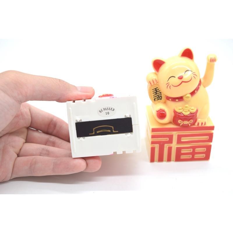 動く招き猫 電池稼働 単四電池 プラスチック製置物 片手稼働 福の字台座 選べる二種類 10cm ryu 07