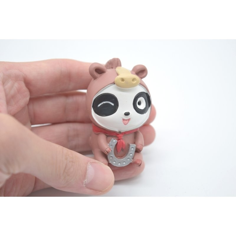 パンダ 馬の着ぐるみ 蹄鉄 マスコット人形 樹脂製置物 5.5cm|ryu|04