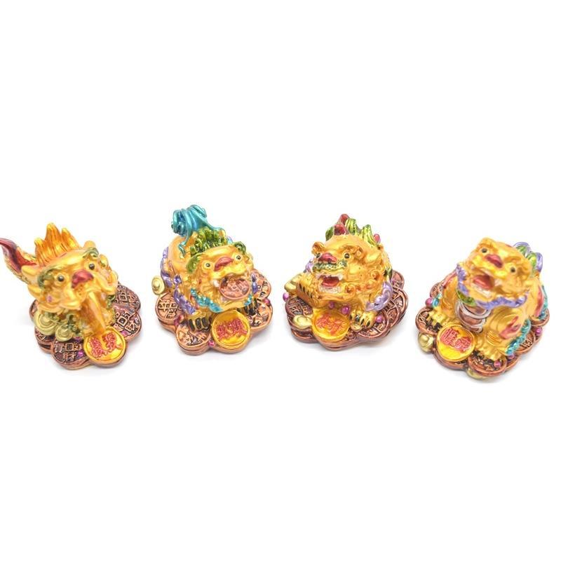 竜生九子 9個セット カラフル 樹脂製置物 龍の子 彩色済み 5cm ryu 02
