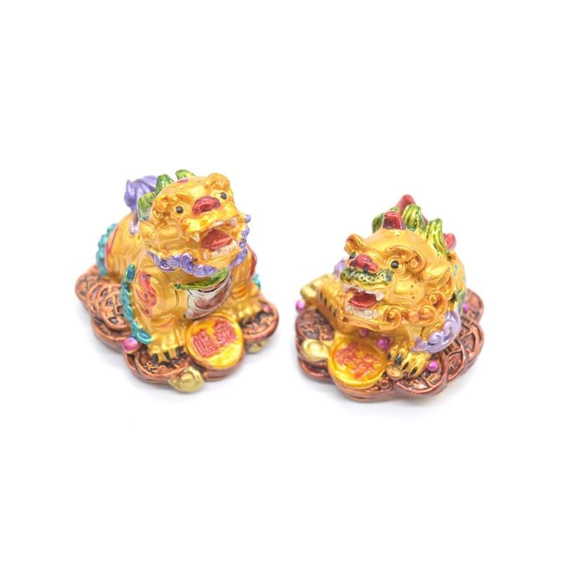 竜生九子 9個セット カラフル 樹脂製置物 龍の子 彩色済み 5cm ryu 03