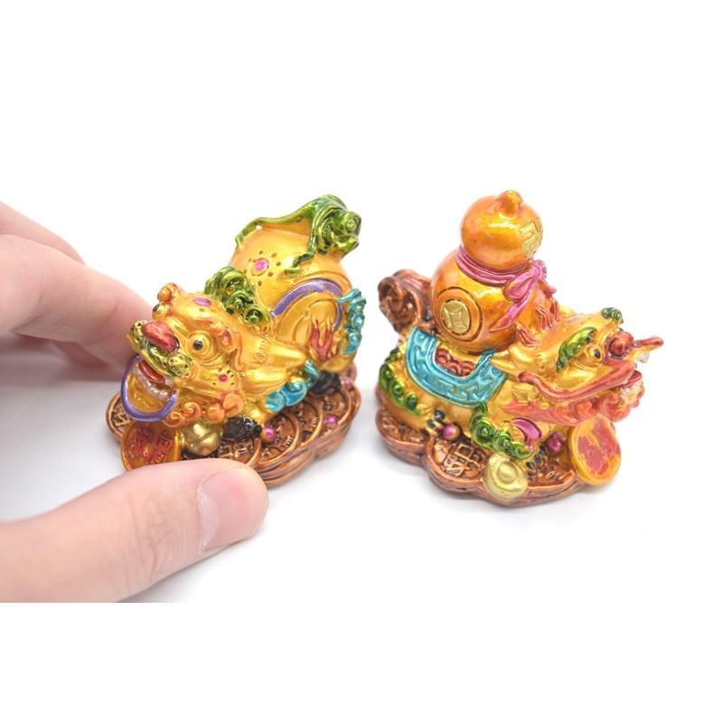 竜生九子 9個セット カラフル 樹脂製置物 龍の子 彩色済み 5cm ryu 05