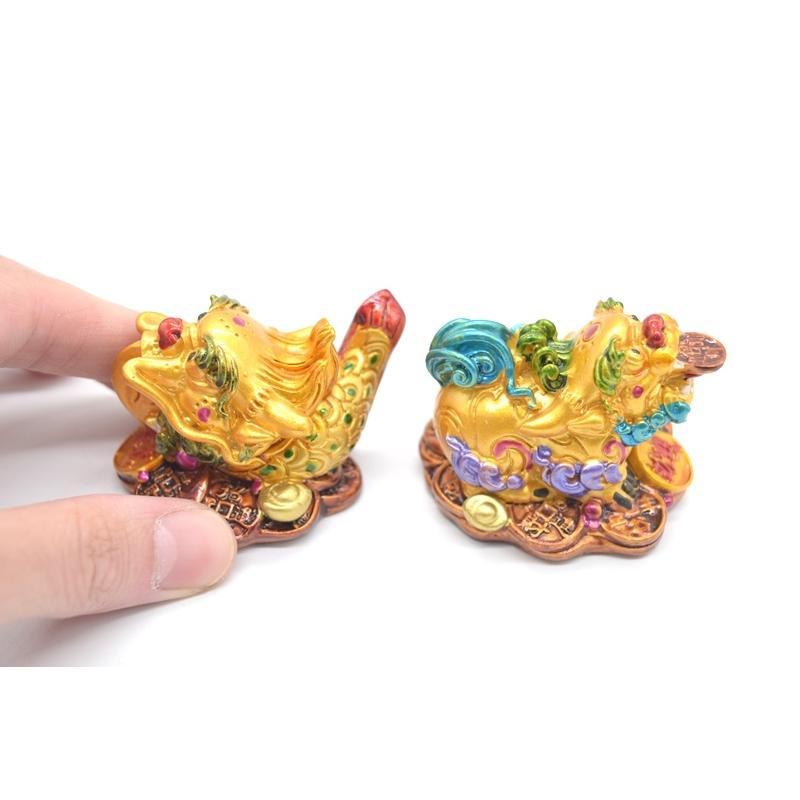 竜生九子 9個セット カラフル 樹脂製置物 龍の子 彩色済み 5cm ryu 09
