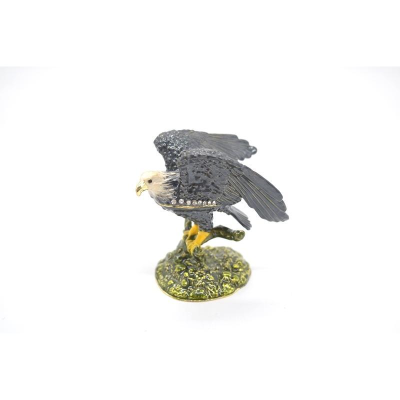 鳥 鷲 猛禽 七宝 金属製置物 翼 幸運 9cm|ryu