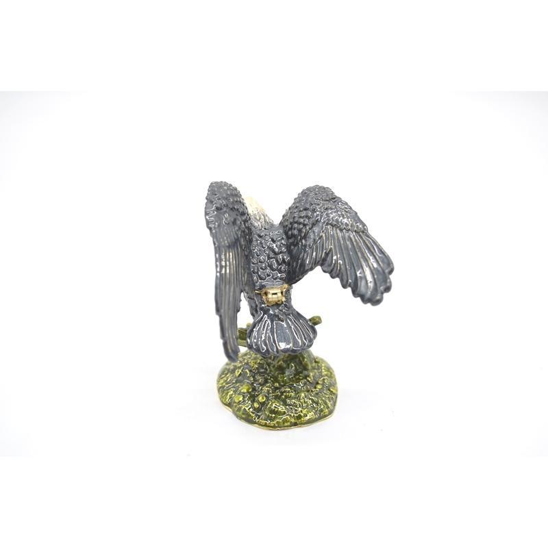 鳥 鷲 猛禽 七宝 金属製置物 翼 幸運 9cm|ryu|02
