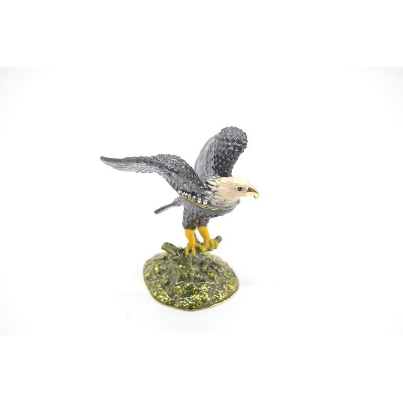 鳥 鷲 猛禽 七宝 金属製置物 翼 幸運 9cm|ryu|04