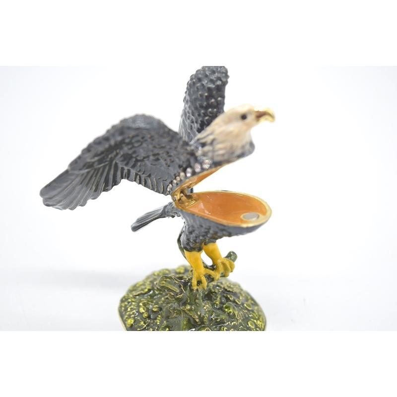 鳥 鷲 猛禽 七宝 金属製置物 翼 幸運 9cm|ryu|06
