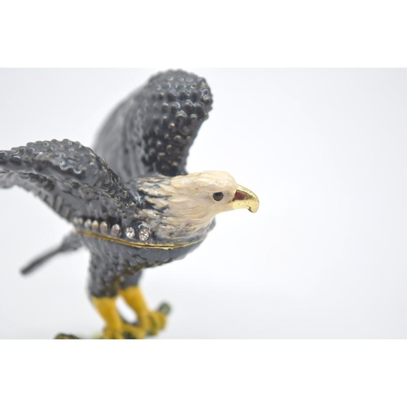 鳥 鷲 猛禽 七宝 金属製置物 翼 幸運 9cm|ryu|07