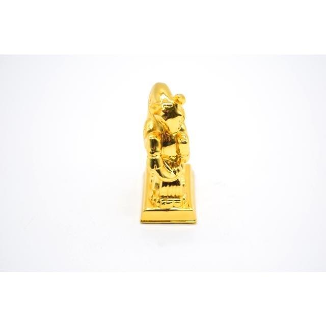 牛 丑 うし 樹脂製置物 台座付き 金色 コンパクトサイズ 8cm|ryu|05