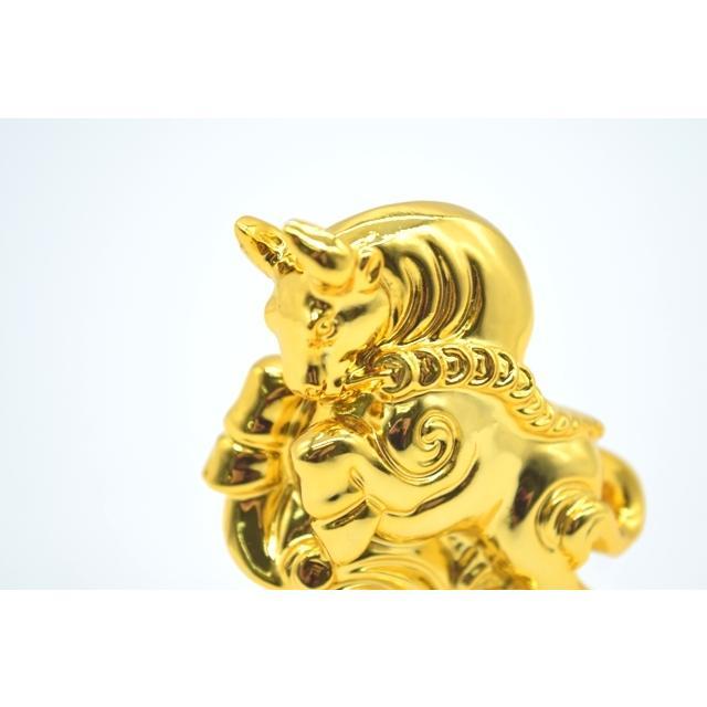牛 丑 うし 樹脂製置物 台座付き 金色 コンパクトサイズ 8cm|ryu|07